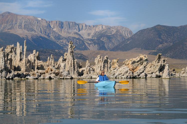 Kayak on Lake Mono Mammoth Lakes