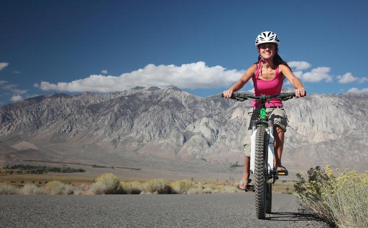 Cyclist Sierra Nevada