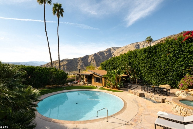 A circular pool in Palm Springs