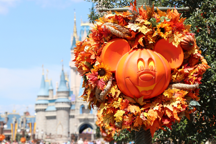 Halloween pumpkin at Disneyworld