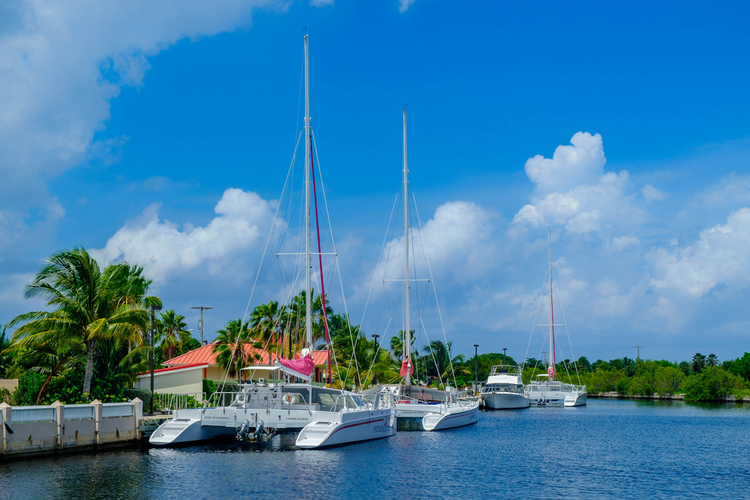 Catamarans in the Cayman Islands