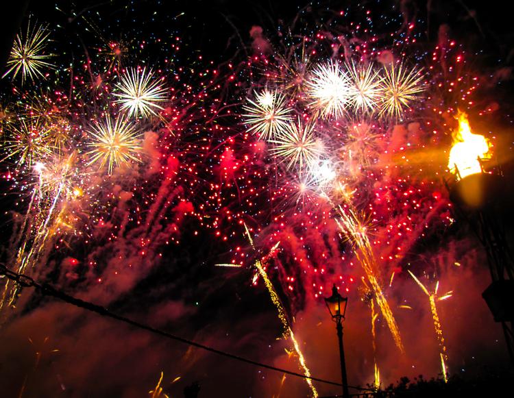 Firework display at Disney