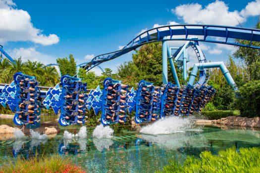Theme park ride in Orlando