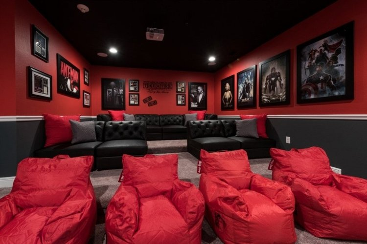 This Orlando villas has a movie theater