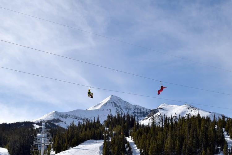 The Adventure Tour zip line in Big Sky Montana