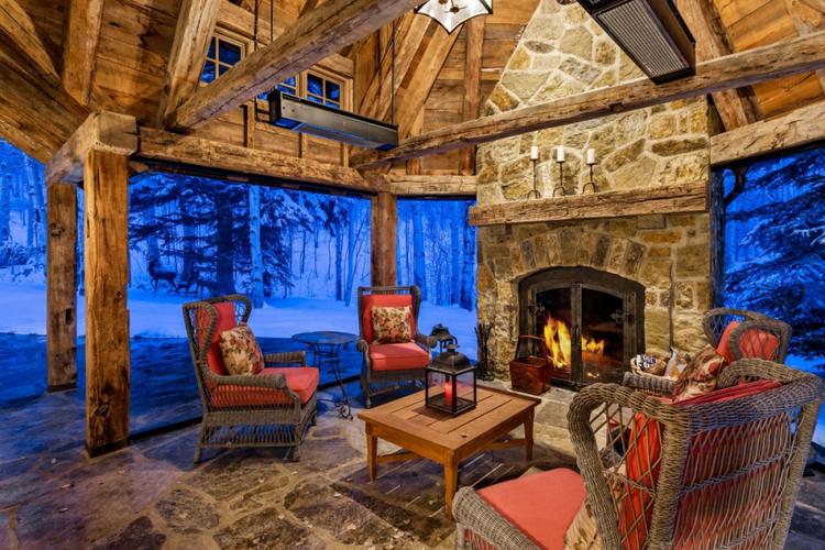 Snowmass 28 outdoor fireplace