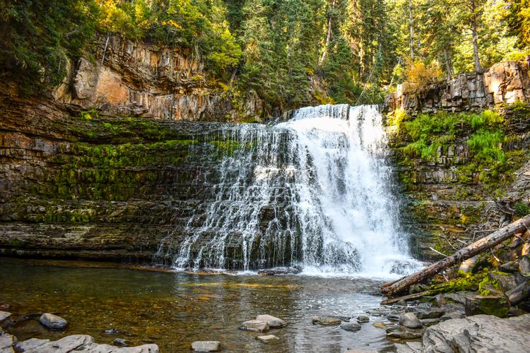 Waterfall at Big Sky, Montana