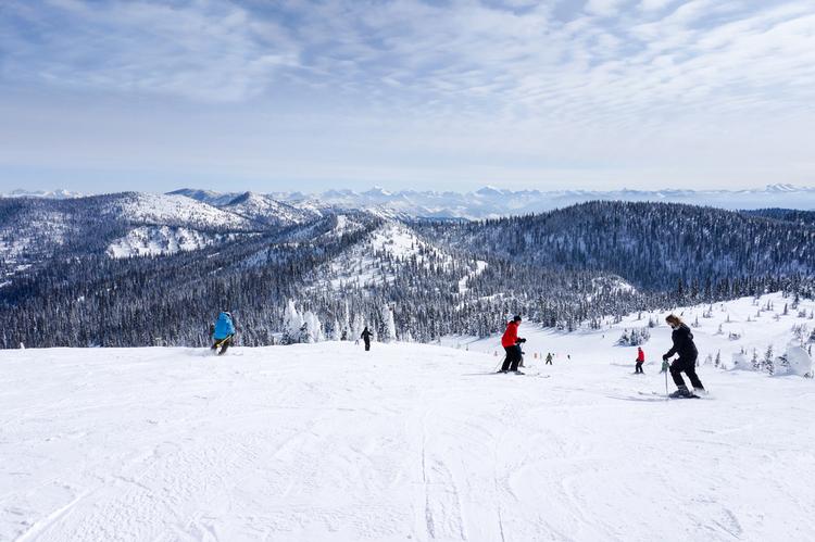 Big Sky ski resort in Montana