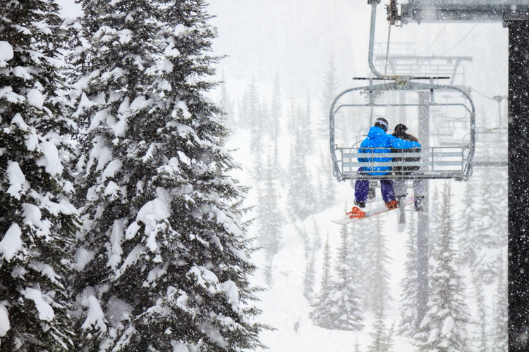 Ski resort Big Sky chairlift