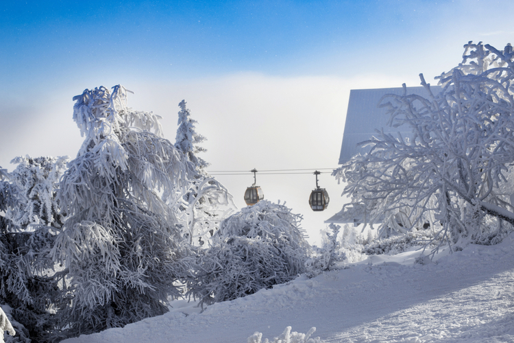 Gondala Mammoth Mountain ski area