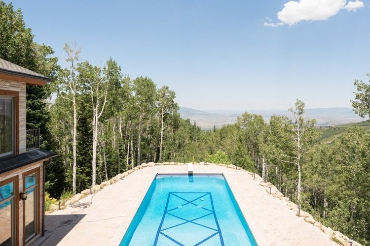 This Park City cabin has its own private swimming pool