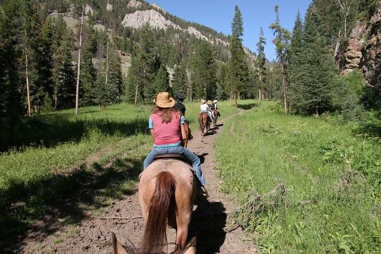 Horseback riding in Big Sky Montana