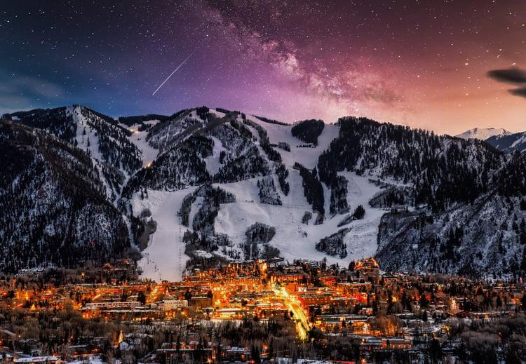 Aspen at night