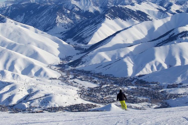 Sun Valley skier enjoys the slopes