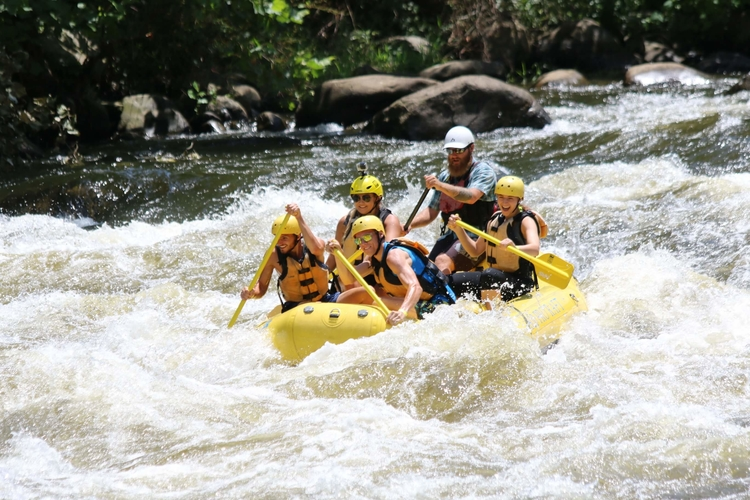 Whitewater rafting in Great Smoky Mountains National Park