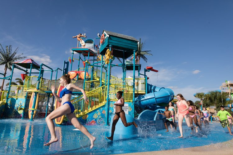 Family friendly kids area of the Encore Resort water park to enjoy on your vacation at your Orlando villa with pool