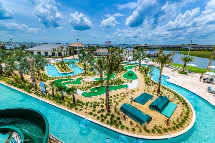Storey Lake resort lazy river is one of the best Orlando resorts with water parks