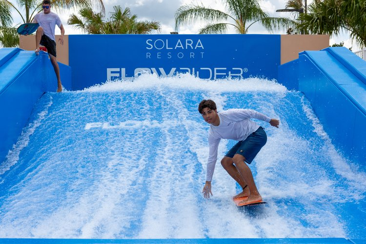 Solara Resort Surf simulator, this resort is voted as one of the top Orlando resorts with water parks