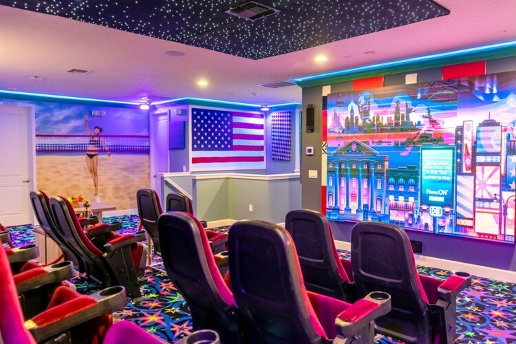 An incredible themed movie room