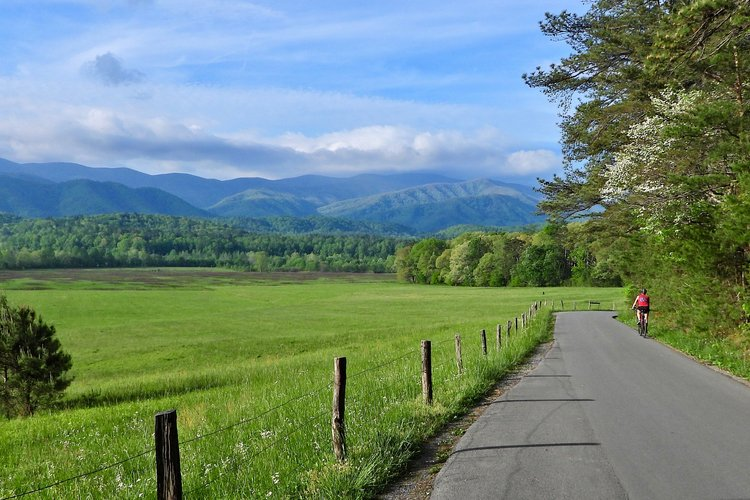 Bike riding in Cades Cove, Great Smoky National Park
