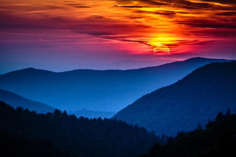 Sunset Great Smoky Mountains