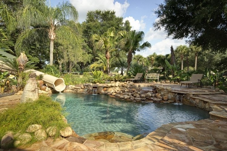 62 Acre Private Island Estate is the cherry on the top when it comes to themed Orlando villas with waterslides