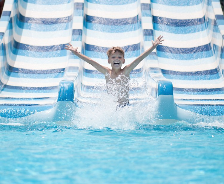 An Orlando villa with access to a water slide or on-site water park is bound to go down with the kids!