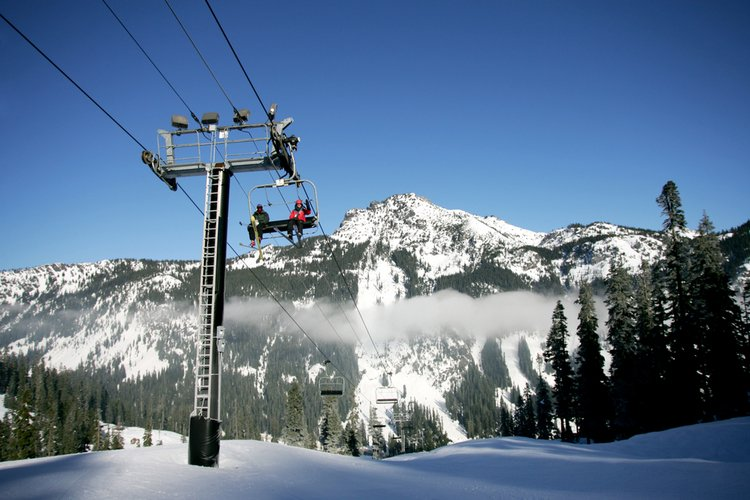Spring skiing resorts in North America