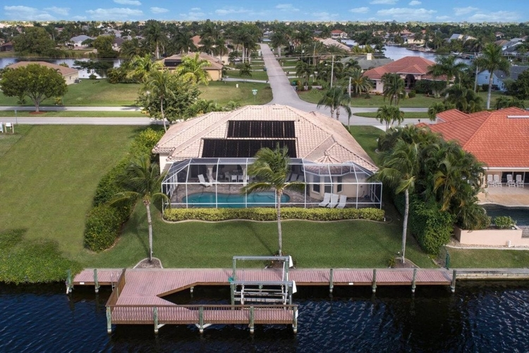 This impressive villa is one of the most luxurious pet-friendly vacation rentals in Cape Coral