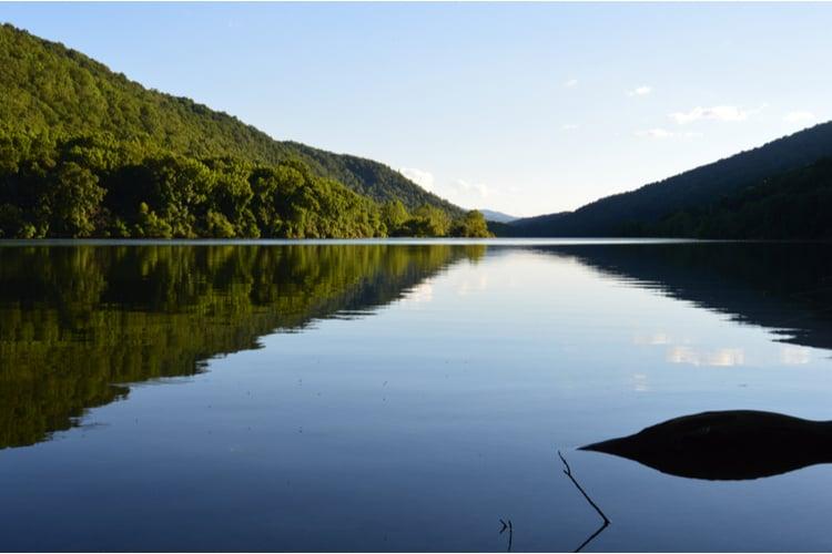 Lake Moomaw in Bath County, Virginia