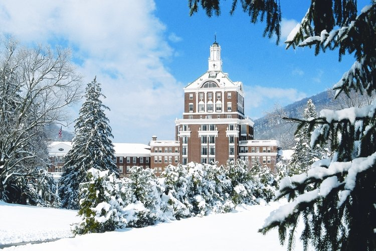 Skiing is one of the most popular things to do in Hot Springs, Virginia