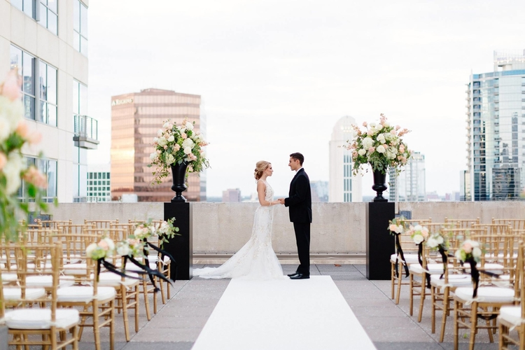 Of all the outdoor wedding venues in Orlando, the Balcony offers a modern industrial edge overlooking downtown Orlando