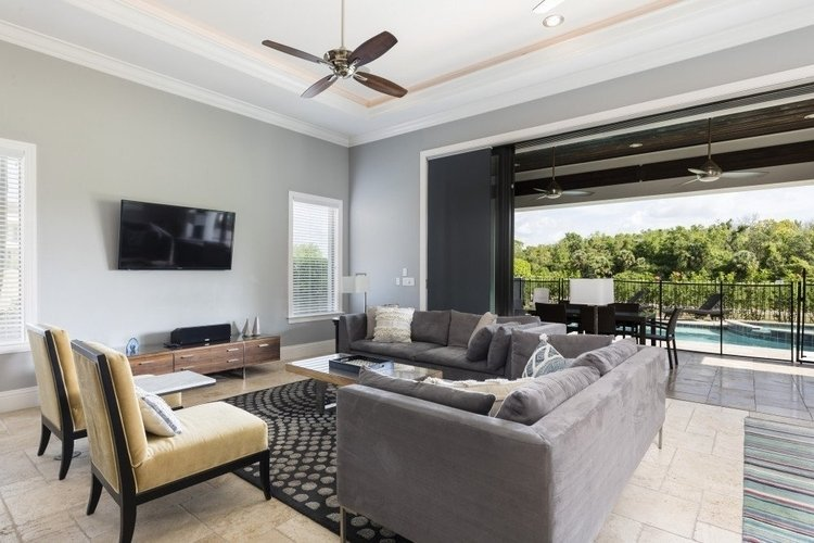 A chic Orlando vacation villa such as Reunion Resort 106 provides a fabulous choice for wedding guest accommodation