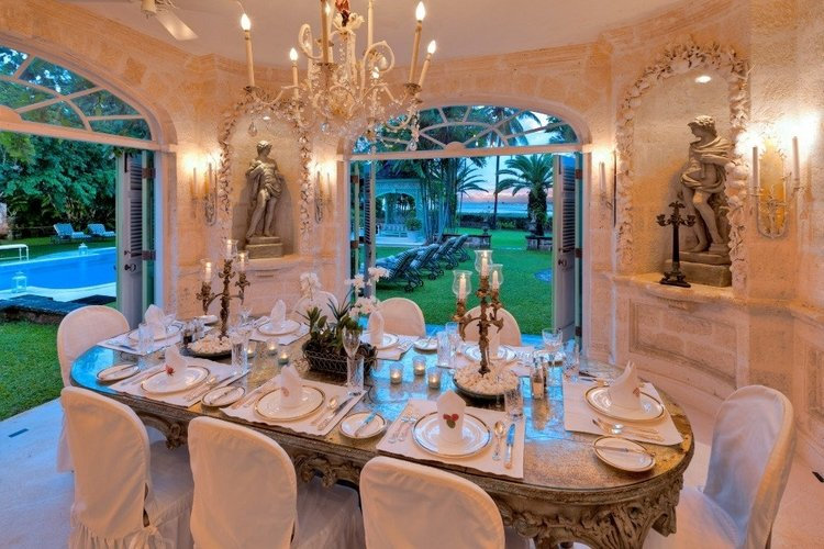 The beautiful Leamington Pavilion fully caters for staffed Caribbean vacation rentals