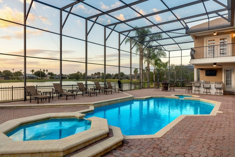 If you're celebrating Memorial Day in Orlando, this terrace is perfect for a BBQ.