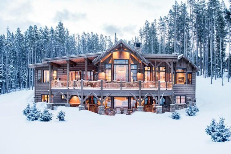 Big Sky in Montana offers some beautiful ski cabins too!