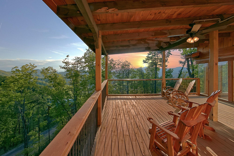 After a day's driving, relax on the verandah of your very own Tennessee home.