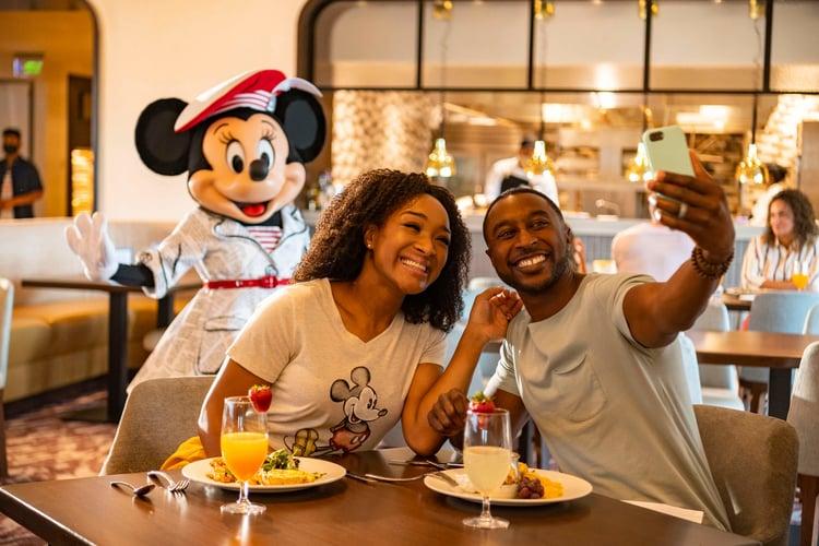 Socially distanced dining at Disney World