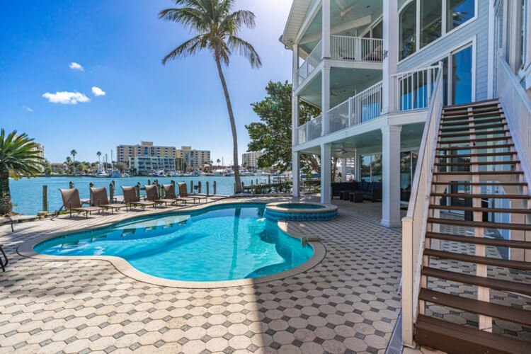 For a reunion to remember check-in to this scenic oceanfront home - easily one of the best Clearwater Florida rentals out there!