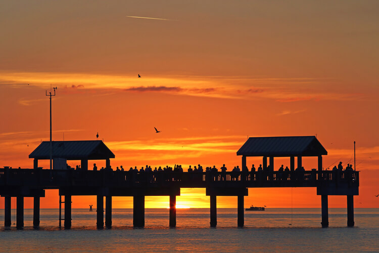 Pier 60 in Clearwater offers an epic spot to catch a Gulf Coast sunset!
