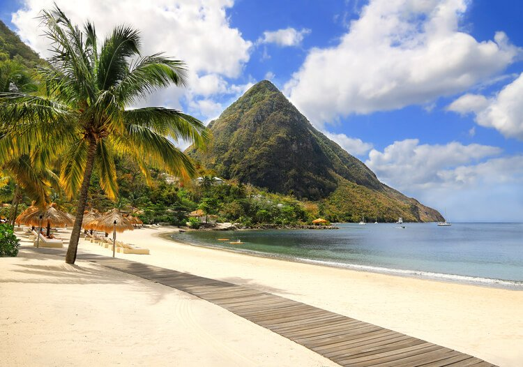 The world-famous beaches of St Lucia are what Caribbean getaways are made of.