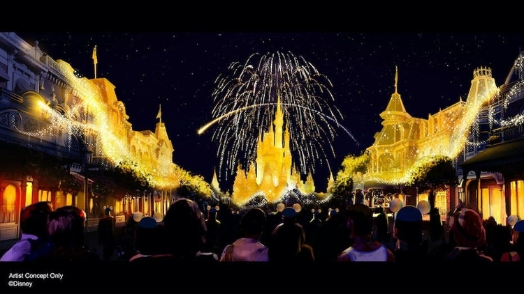 The Disney Enchantment fireworks will showcase the Disney World 50th Anniversary with a bang!