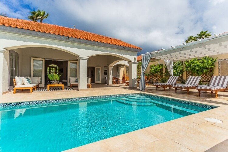 This vacation home in Aruba is in the Tierra del Sol community